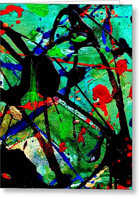 Fine Mixed Media Greeting Cards - Abstract 40 Greeting Card by John  Nolan