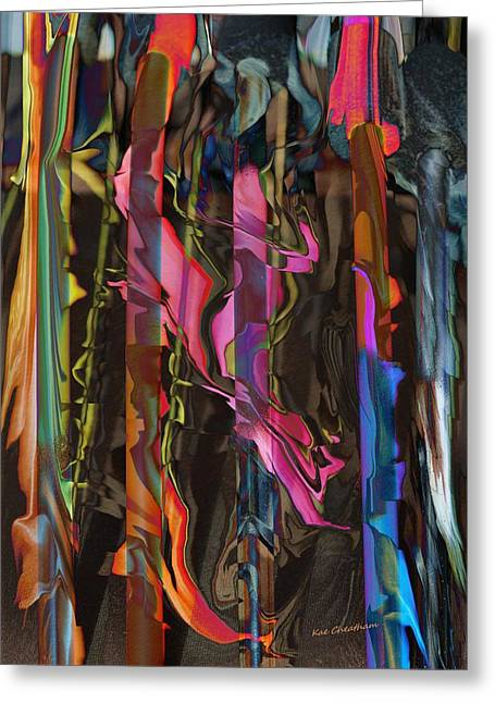 Abstract Digital Mixed Media Greeting Cards - Abstract 415 1 Greeting Card by Kae Cheatham