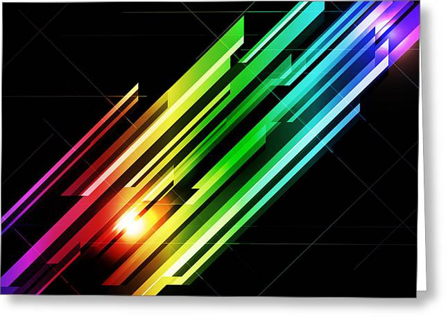 Abstract 45 Greeting Card by Michael Tompsett