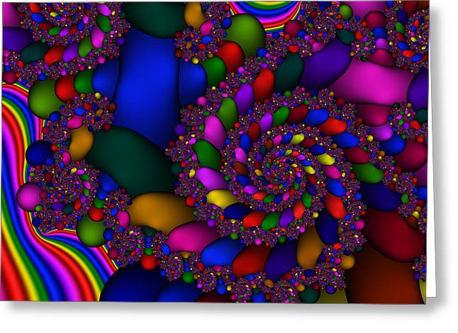 Abstract 509 Greeting Card by Rolf Bertram