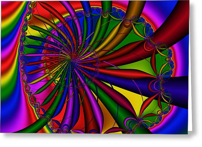 Abstract 525 Greeting Card by Rolf Bertram