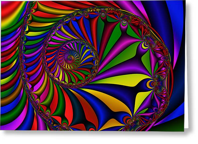 Abstract 527 Greeting Card by Rolf Bertram