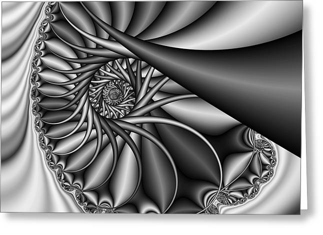 Abstract 530 Bw Greeting Card by Rolf Bertram