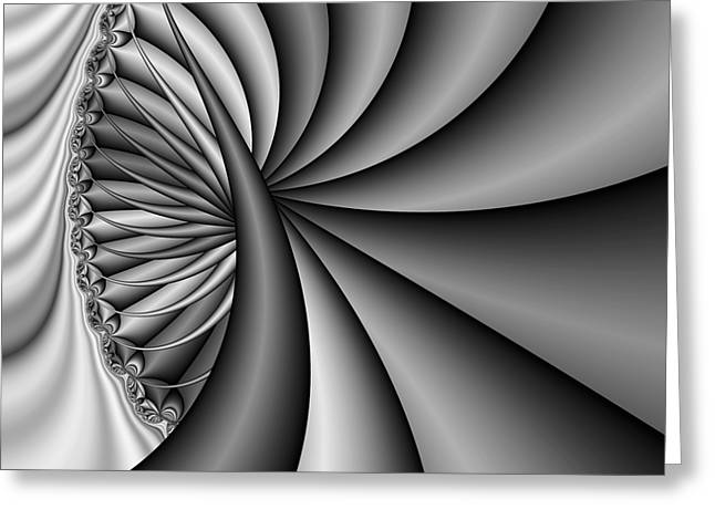 Abstract 531 Bw Greeting Card by Rolf Bertram