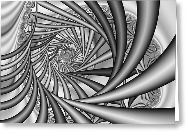 Abstract 532 Bw Greeting Card by Rolf Bertram