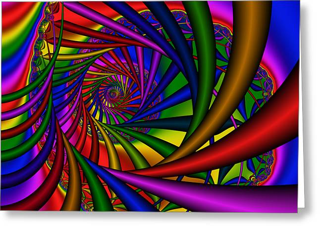 Abstract 532 Greeting Card by Rolf Bertram