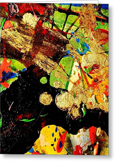 Monoprint Greeting Cards - Abstract 54 Greeting Card by John  Nolan