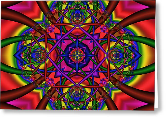 Abstract 604 Greeting Card by Rolf Bertram