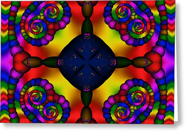 Abstract 650 Greeting Card by Rolf Bertram