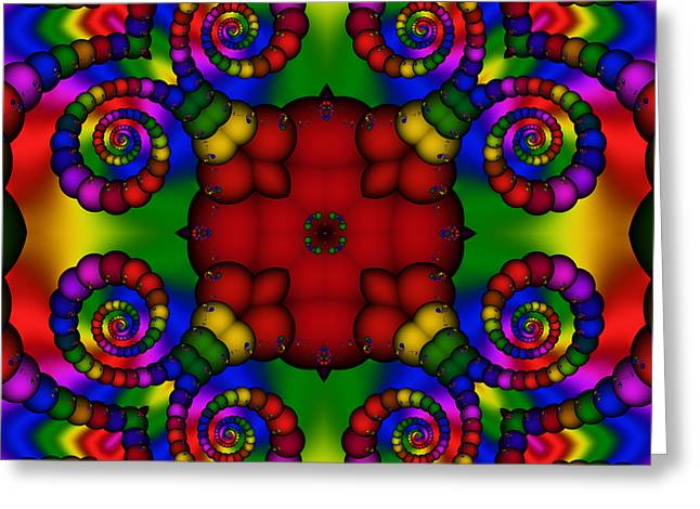 Abstract 651 Greeting Card by Rolf Bertram