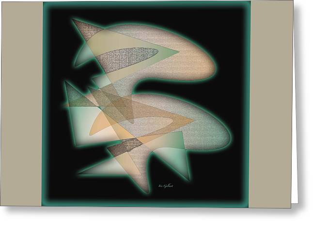 Abstract Shapes Greeting Cards - Abstract 6660 Greeting Card by Iris Gelbart