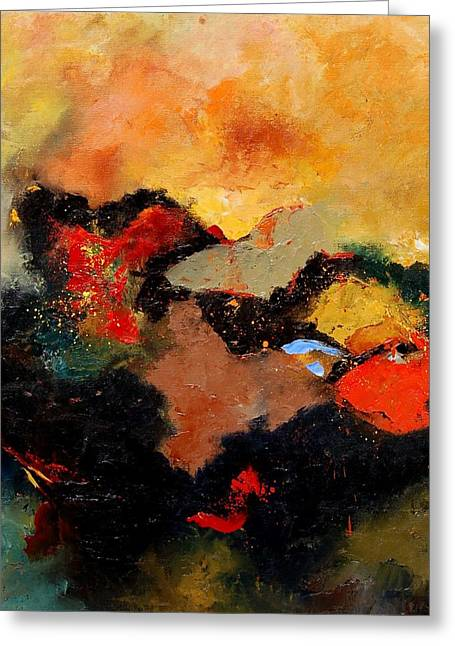 Abstract 8080 Greeting Card by Pol Ledent