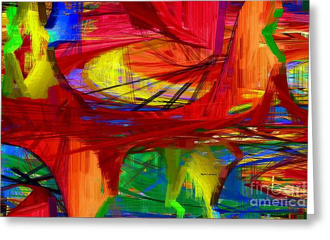 Tablets Greeting Cards - Abstract 9043 Greeting Card by Rafael Salazar
