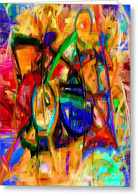Tablets Greeting Cards - Abstract 9089 Greeting Card by Rafael Salazar
