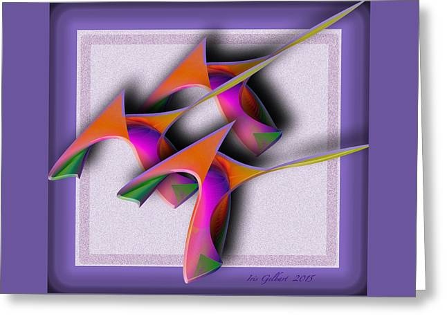 Abstract Shapes Greeting Cards - Abstract 9768 Greeting Card by Iris Gelbart