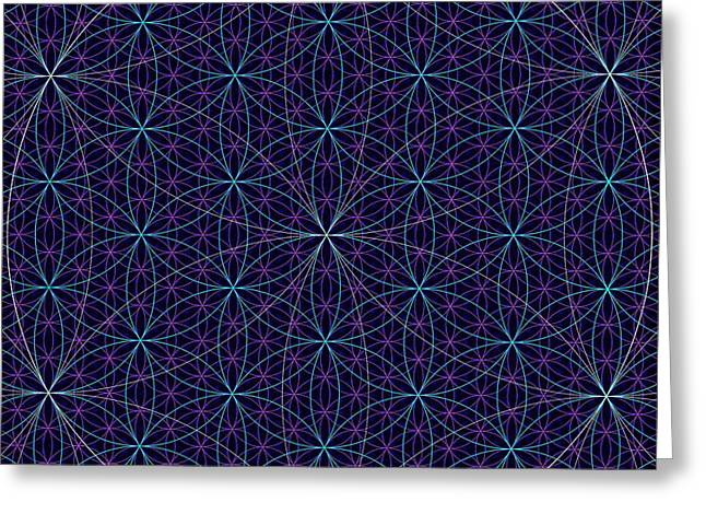Geometric Design Greeting Cards - Abstract 99 - The Flower of Life Greeting Card by Radu Gavrila