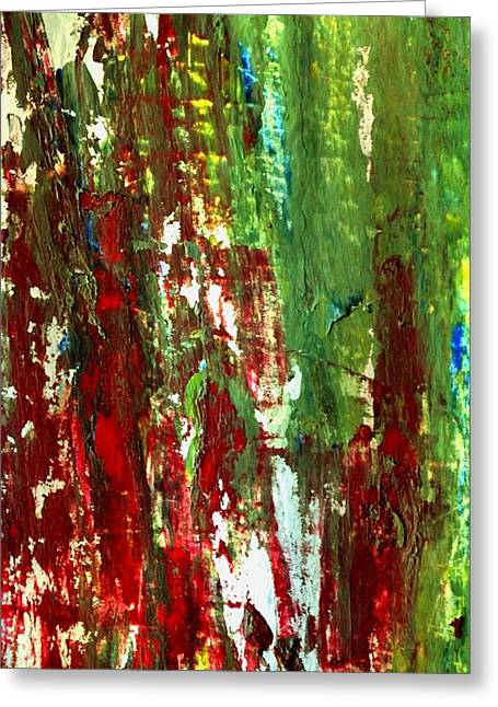 Cardboard Greeting Cards - Abstract Acrylic 12 Greeting Card by Dimitra Papageorgiou