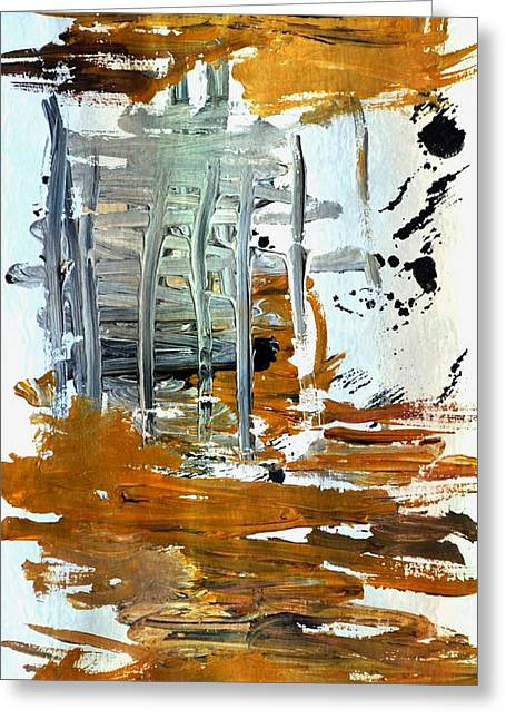 Cardboard Greeting Cards - Abstract Acrylic 13 Greeting Card by Dimitra Papageorgiou