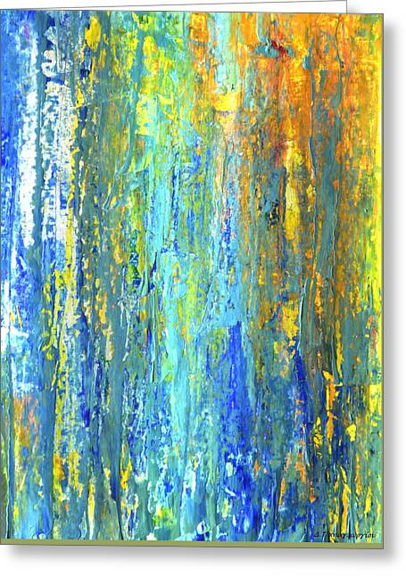 Cardboard Greeting Cards - Abstract Acrylic 16 Greeting Card by Dimitra Papageorgiou