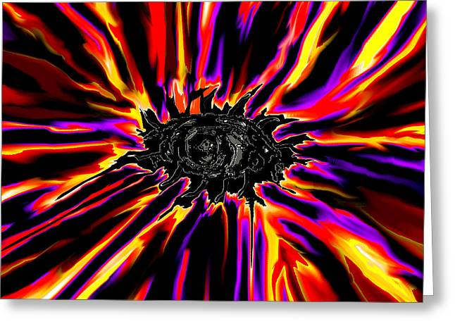 Nature Greeting Cards - Abstract Alien Eye Magick Greeting Card by Stephen  Killeen