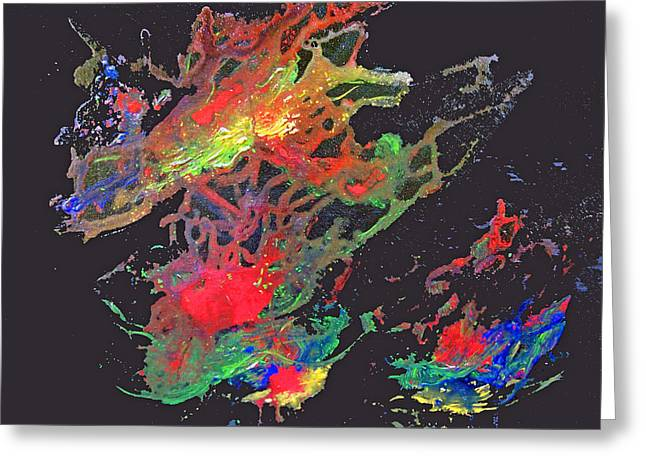 Recently Sold -  - Steer Greeting Cards - Abstract Andromeda Greeting Card by Ken Figurski