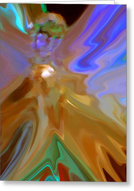 Angel Greeting Cards Greeting Cards - Abstract Angel  Greeting Card by Michelle  BarlondSmith