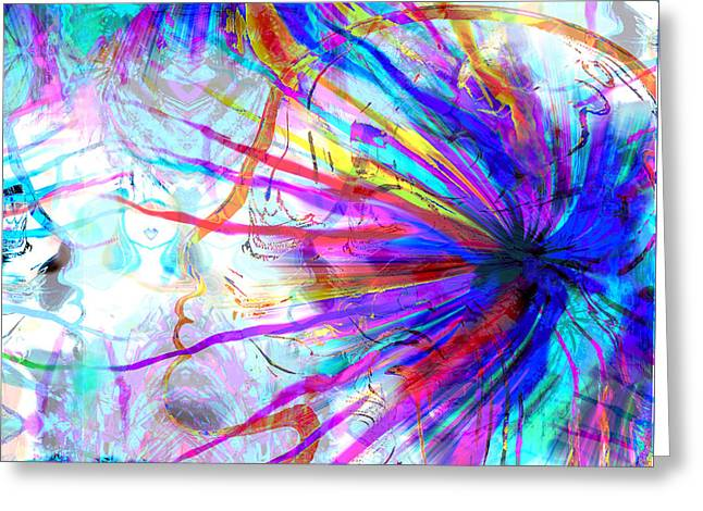Subtle Colors Greeting Cards - Abstract Angels of Thought Greeting Card by Stephen  Killeen