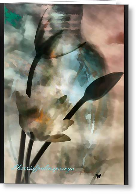 Digital Art Greeting Cards - Abstract Art  A Special Place In Heaven Greeting Card by Sherri  Of Palm Springs