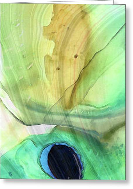 Abstract Art - Calm - Sharon Cummings Greeting Card by Sharon Cummings