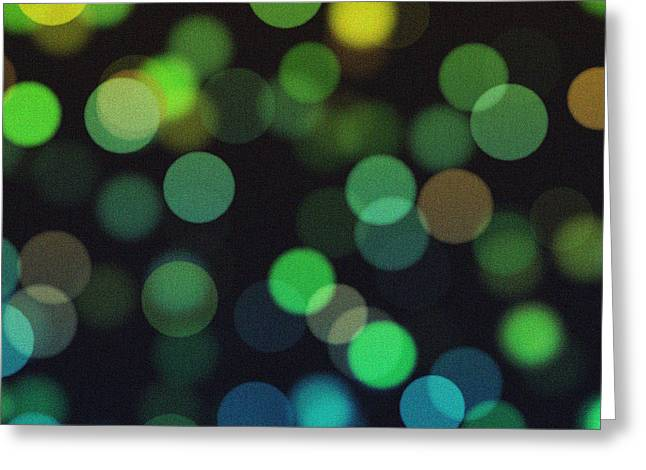 Bokeh Paintings Greeting Cards - Abstract Art - Painting Textures Greeting Card by Celestial Images