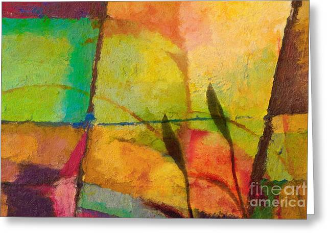 Abstract Art Sale Greeting Cards - Abstract Art Primavera Greeting Card by Lutz Baar