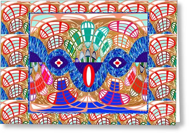 Star Greeting Cards - Abstract Art Snake hidden in graphics art by NavinJoshi at FineArtAmerica.com Elegant Interior Decor Greeting Card by Navin Joshi