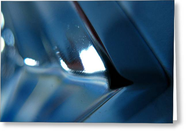 Man Made Abstract Greeting Cards - Abstract Blue - Aim Greeting Card by Jason Freedman