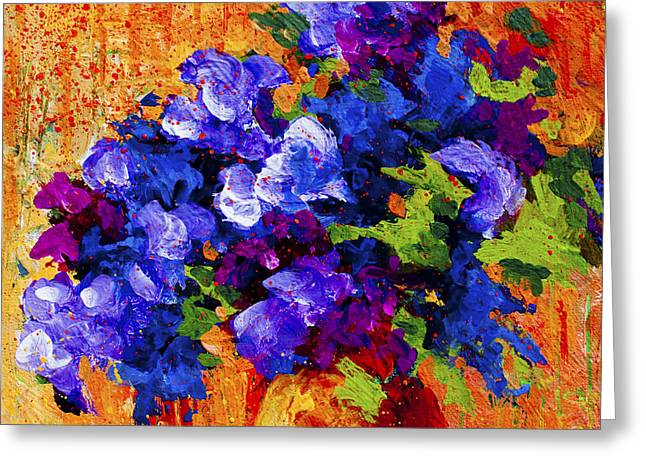 Landscape. Scenic Paintings Greeting Cards - Abstract Boquet 3 Greeting Card by Marion Rose