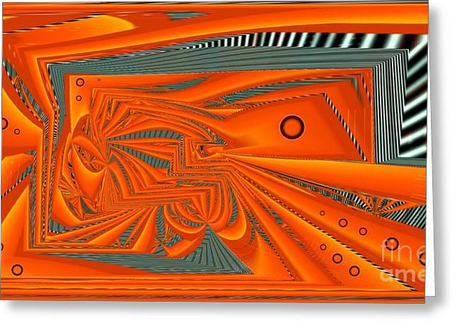 Distortion Greeting Cards - Abstract Boxed Greeting Card by Ron Bissett