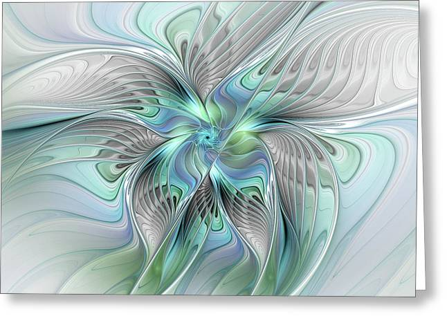 Abstract Butterfly Greeting Card by Gabiw Art