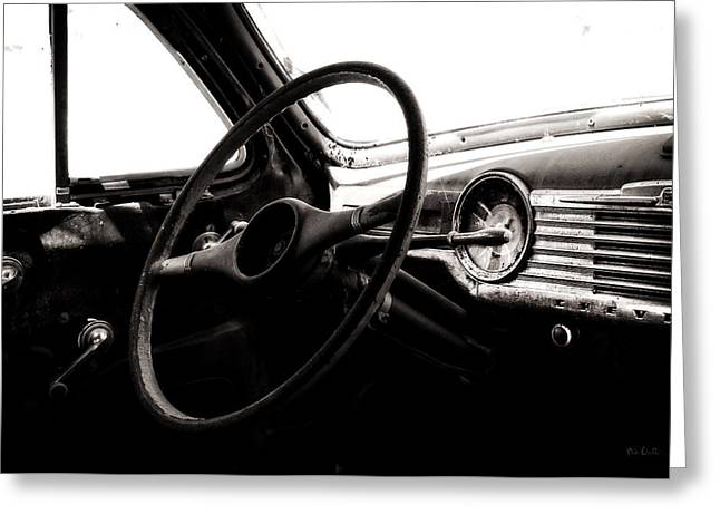 Steering Greeting Cards - Abstract Cars Dashboard Special Deluxe Greeting Card by Bob Orsillo