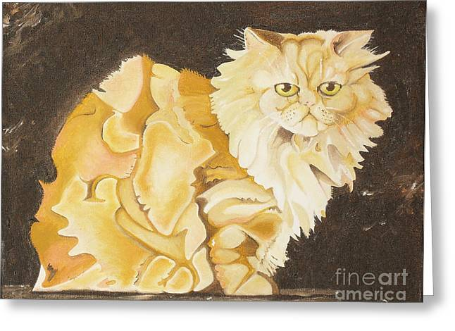 Joseph Palotas Greeting Cards - Abstract Cat Greeting Card by Joseph Palotas