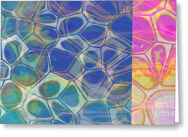 Abstract Cells 6 Greeting Card by Edward Fielding