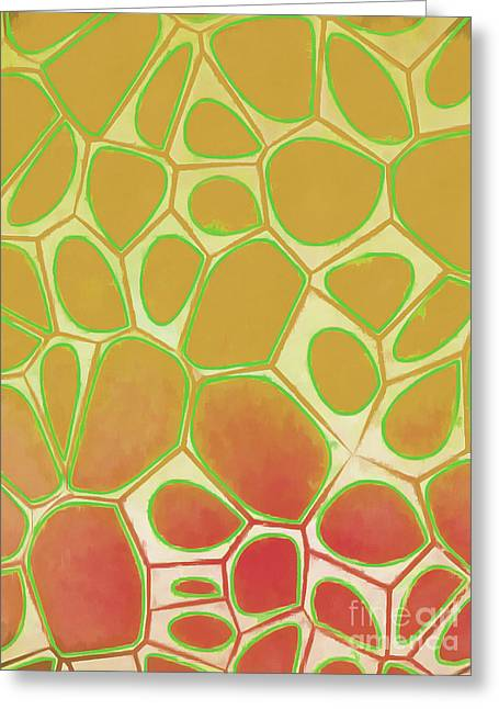 Abstract Cells 2 Greeting Card by Edward Fielding
