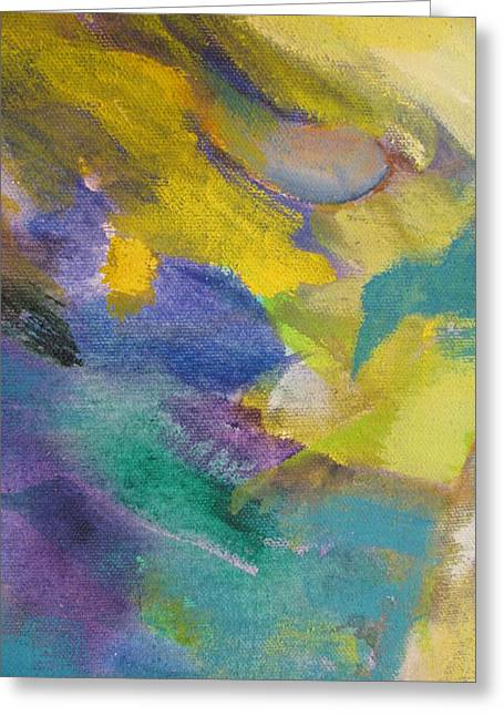Close Up Floral Paintings Greeting Cards - Abstract close up 13 Greeting Card by Anita Burgermeister