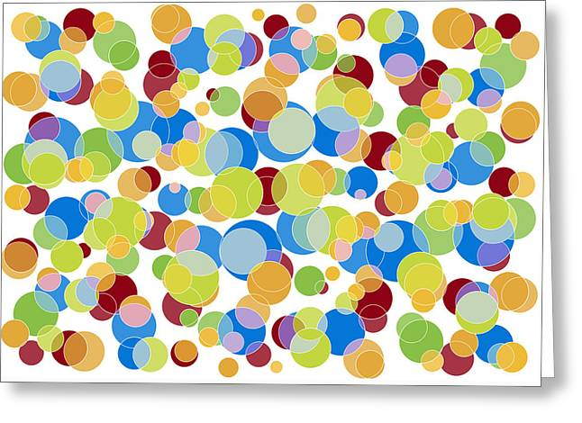 Patterned Paintings Greeting Cards - Abstract Color Greeting Card by Frank Tschakert