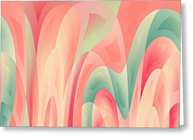 Abstract Color Harmony Greeting Card by Gaspar Avila