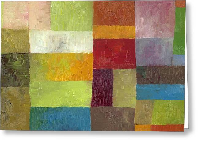 Image Repeat Greeting Cards - Abstract Color Study lV Greeting Card by Michelle Calkins