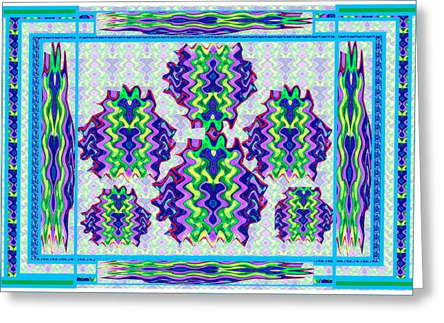 Surprise Mixed Media Greeting Cards - Abstract Colorful Waves Blues Purple n Yellow Download option for bulk printing see buy link below Greeting Card by Navin Joshi