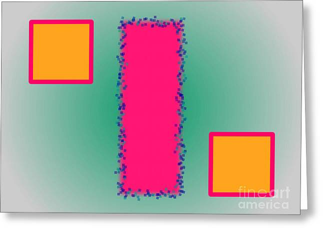 Geometric Effect Greeting Cards - Abstract Composition 03 Greeting Card by Celestial Images