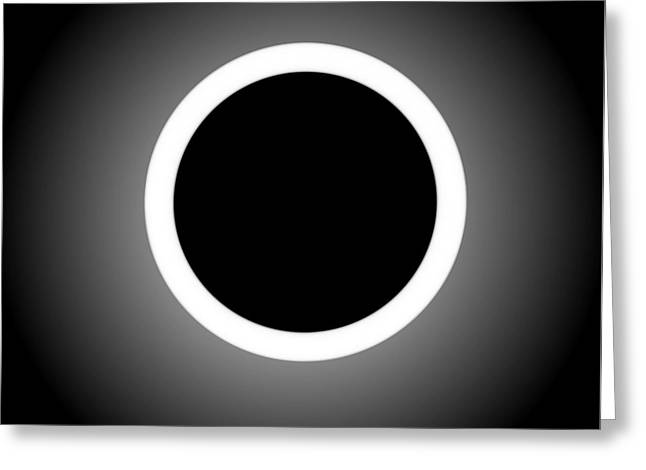 Abstract Composition - Perfect Eclipse  Greeting Card by Celestial Images