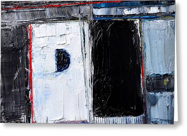 Town Square Greeting Cards - Abstract Concrete Metropolis Greeting Card by Ana Maria Edulescu