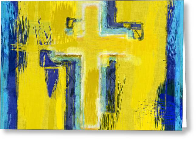Abstract Crosses Greeting Card by David G Paul