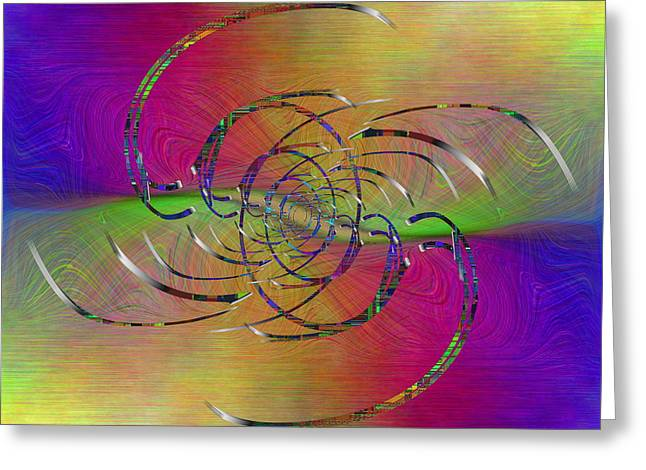 Beige Abstract Greeting Cards - Abstract Cubed 317 Greeting Card by Tim Allen